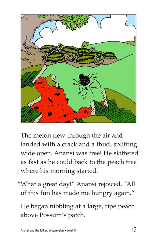 Book Preview For Anansi and the Talking Watermelon Page 15