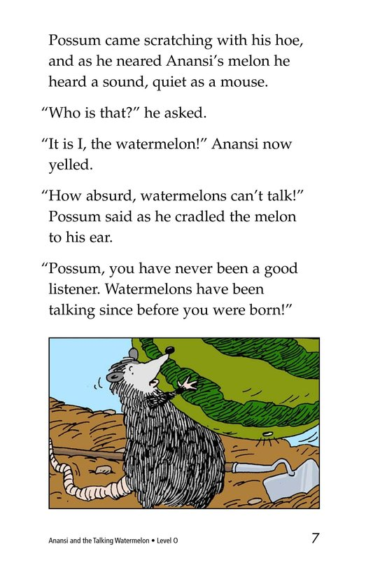 Book Preview For Anansi and the Talking Watermelon Page 7