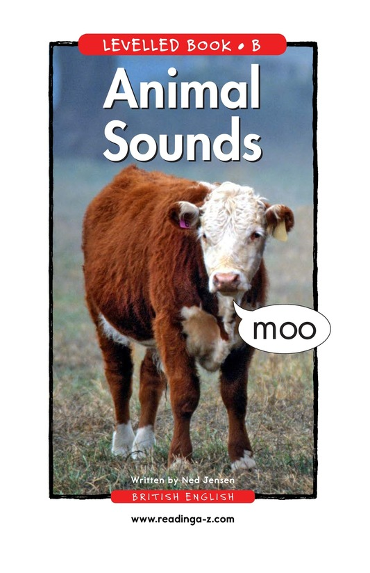 Book Preview For Animal Sounds Page 1