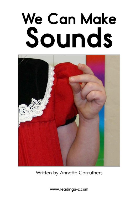 Book Preview For We Can Make Sounds Page 2