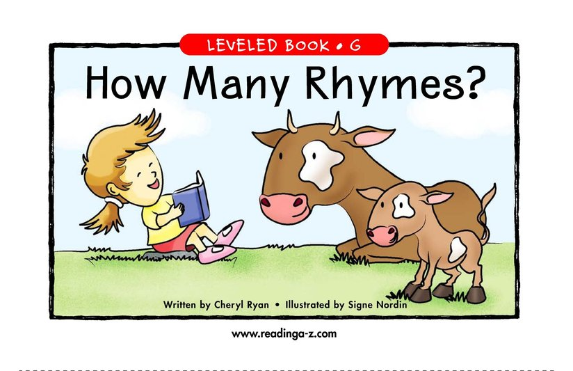 Book Preview For How Many Rhymes? Page 1