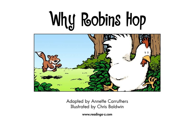 Book Preview For Why Robins Hop Page 2