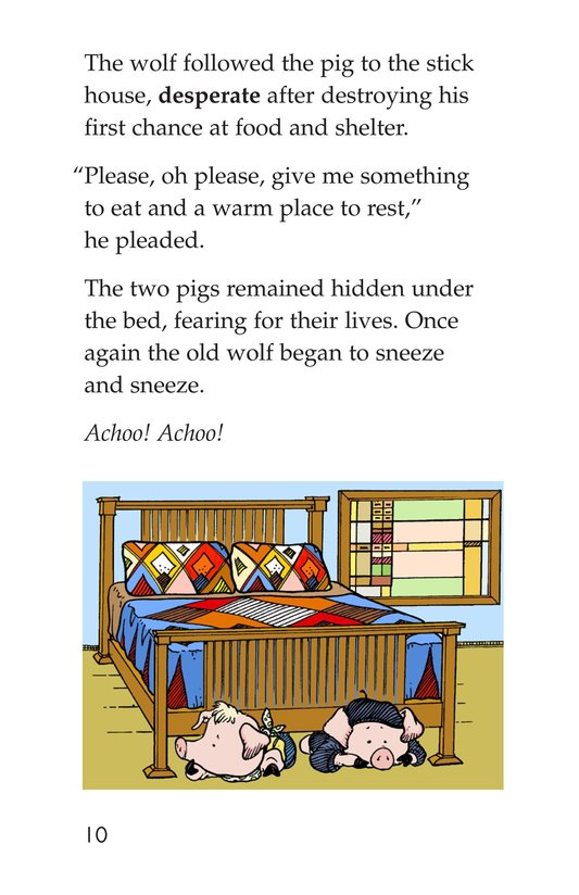 Book Preview For Three Little Pigs: The Wolf's Story Page 10
