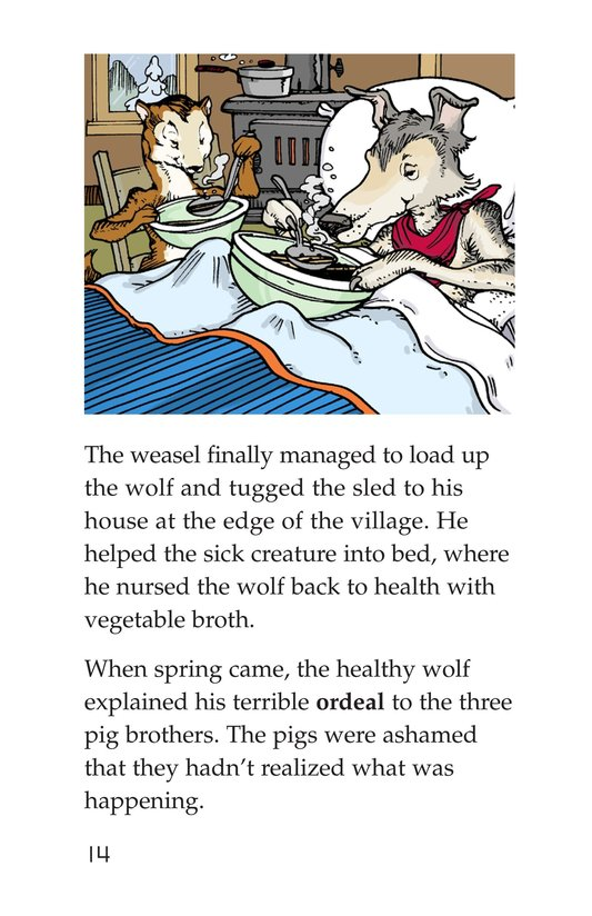 Book Preview For Three Little Pigs: The Wolf's Story Page 14