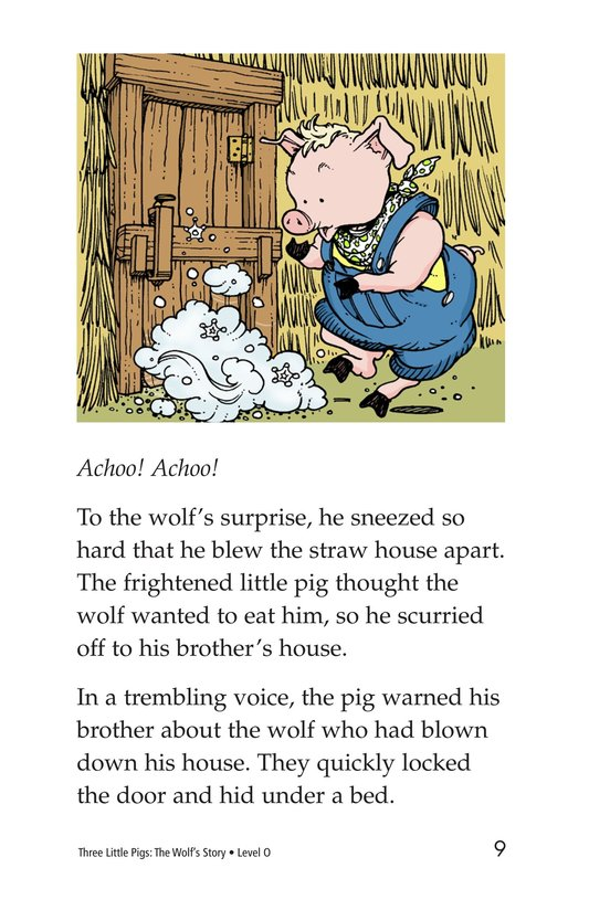Book Preview For Three Little Pigs: The Wolf's Story Page 9