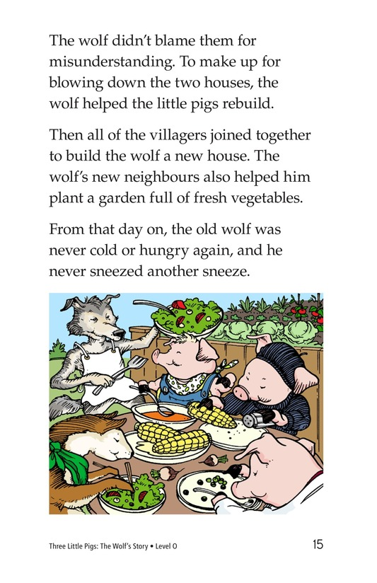 Book Preview For Three Little Pigs: The Wolf's Story Page 15