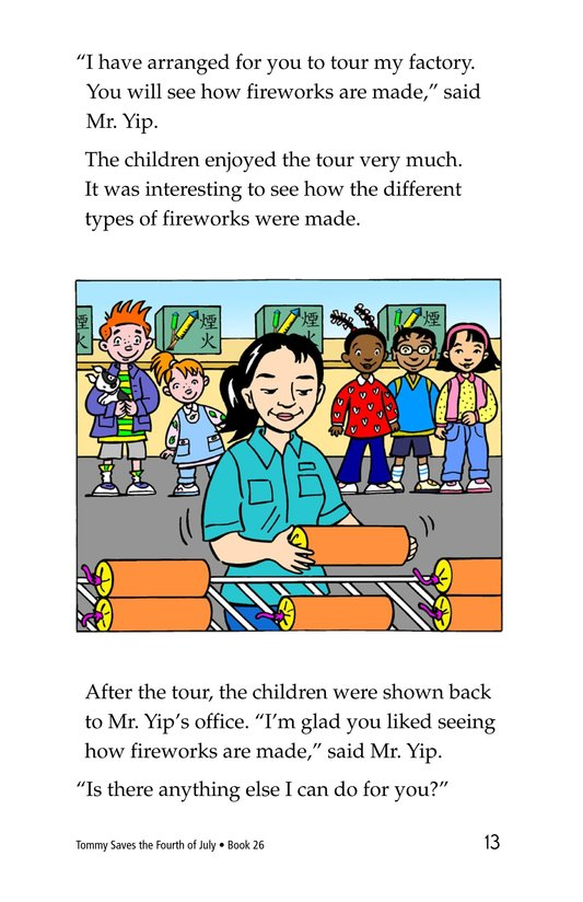 Book Preview For Tommy Saves the Fourth of July Page 13