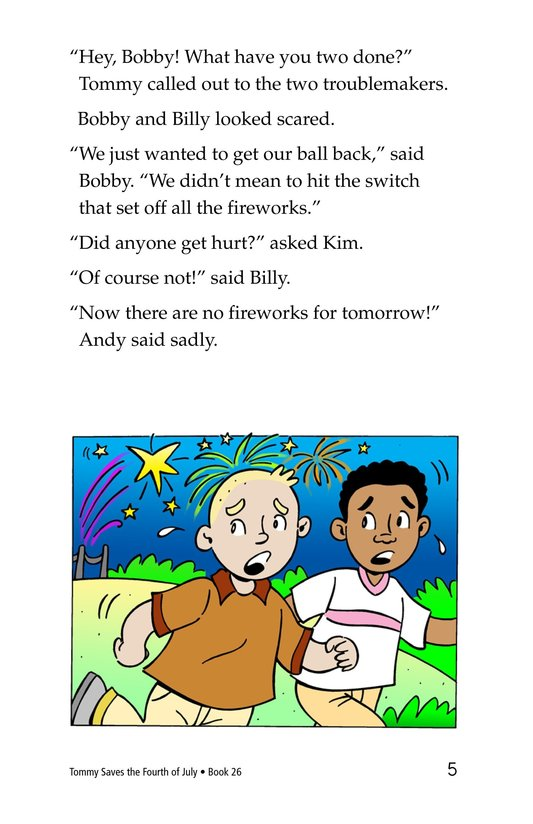 Book Preview For Tommy Saves the Fourth of July Page 5