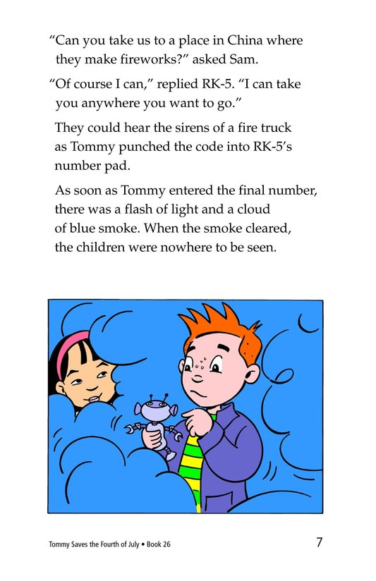 Book Preview For Tommy Saves the Fourth of July Page 7