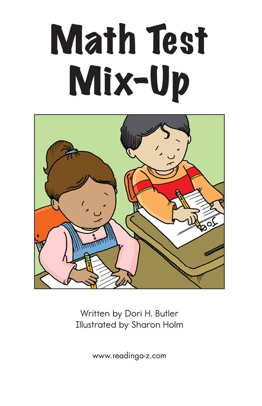 Book Preview For Math Test Mix-Up Page 2