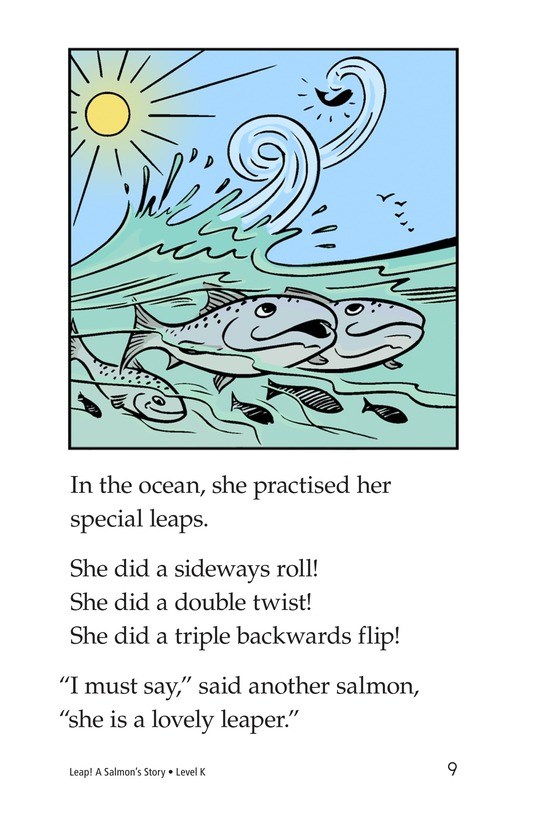 Book Preview For Leap! A Salmon's Story Page 9