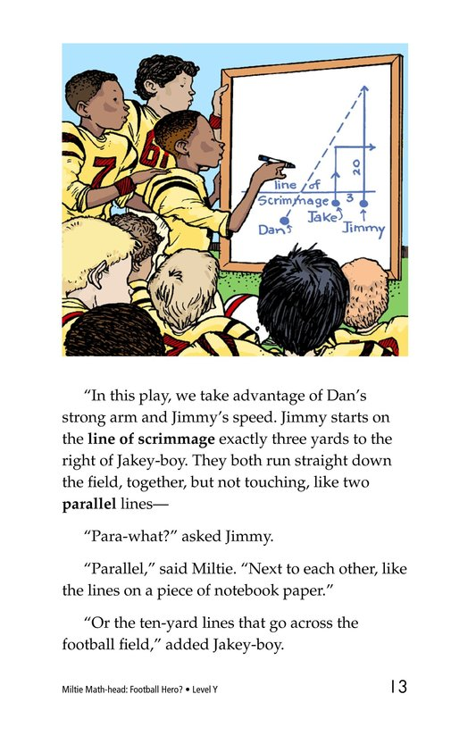 Book Preview For Miltie Math-head: Football Hero? Page 13