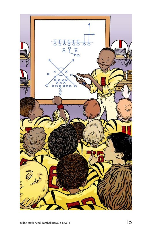Book Preview For Miltie Math-head: Football Hero? Page 15