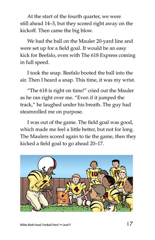 Book Preview For Miltie Math-head: Football Hero? Page 17