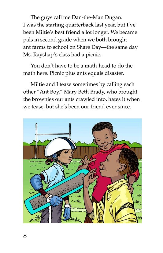 Book Preview For Miltie Math-head: Football Hero? Page 6