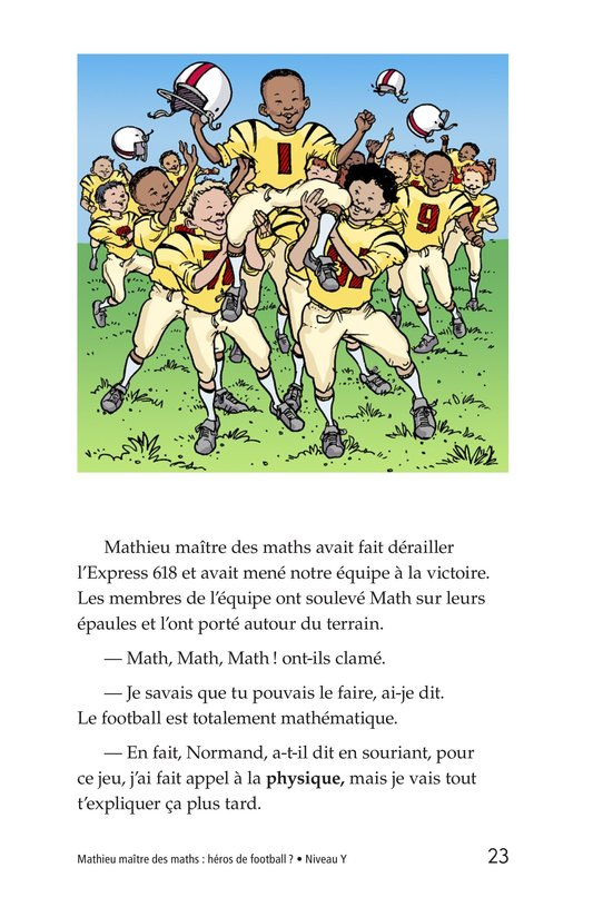 Book Preview For Miltie Math-head: Football Hero? Page 23