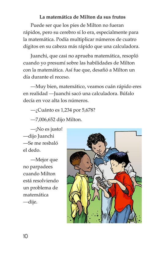 Book Preview For Miltie Math-head: Football Hero? Page 10