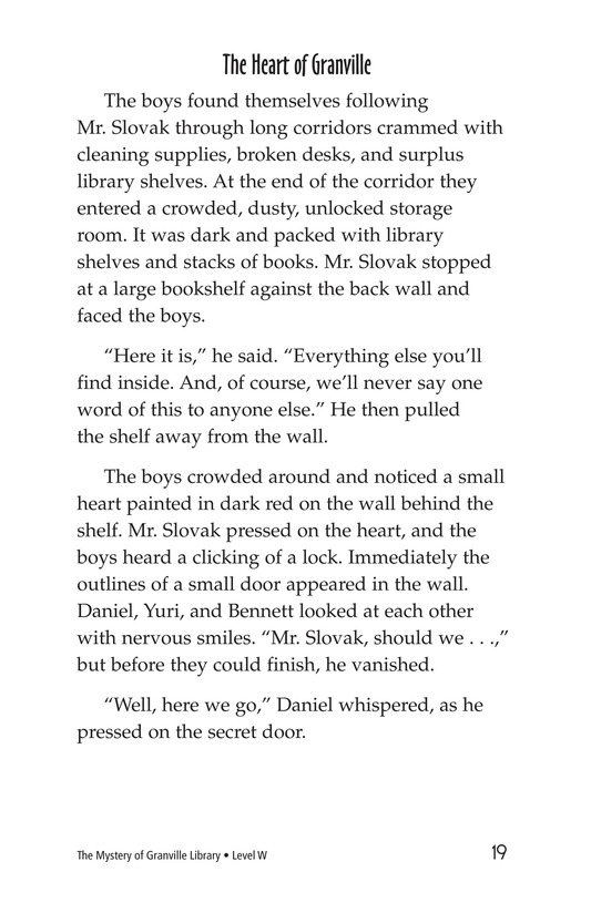 Book Preview For The Mystery of Granville Library Page 19