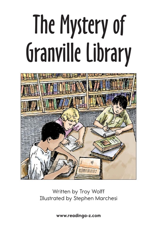 Book Preview For The Mystery of Granville Library Page 2