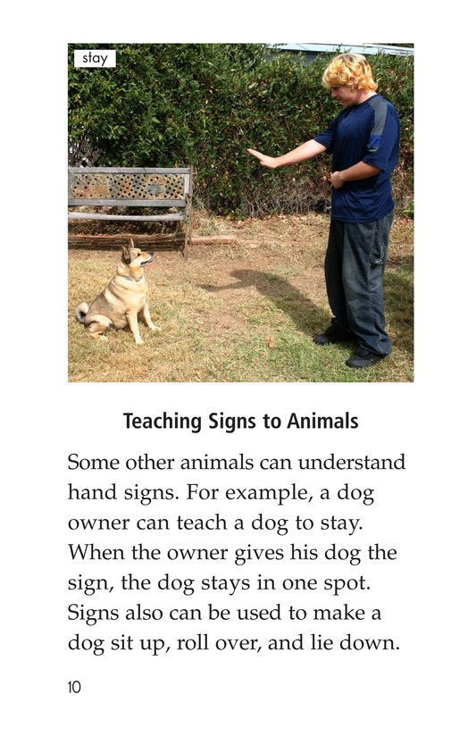 Book Preview For Sign Language and Hand Talk Page 10