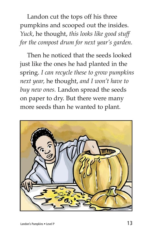 Book Preview For Landon's Pumpkins Page 13