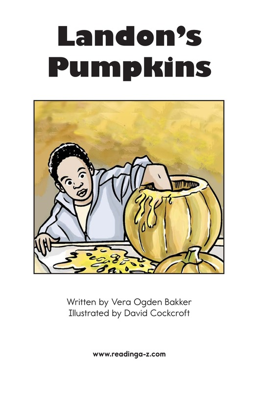 Book Preview For Landon's Pumpkins Page 2