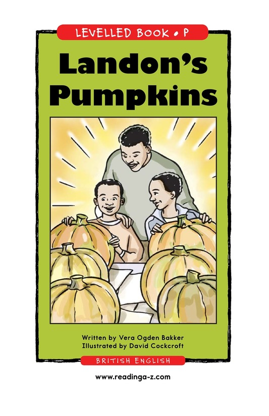 Book Preview For Landon's Pumpkins Page 1