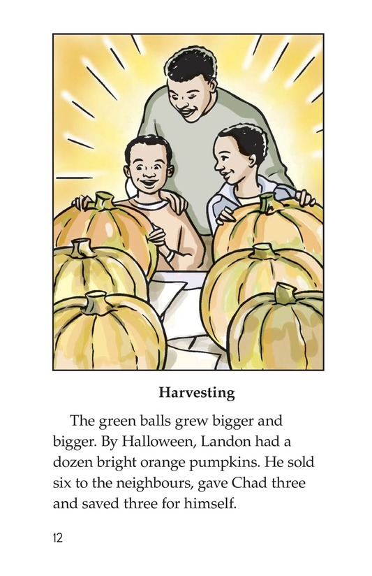 Book Preview For Landon's Pumpkins Page 12