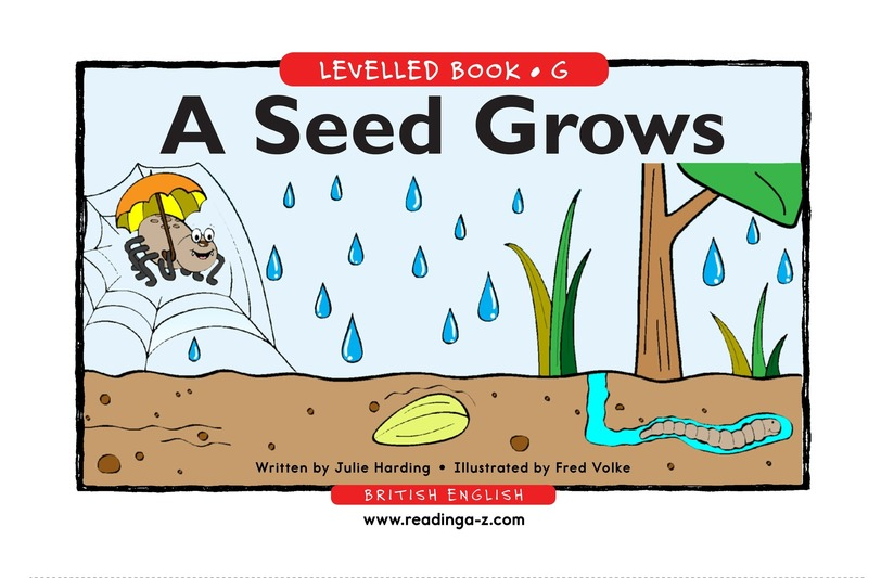Book Preview For A Seed Grows Page 1