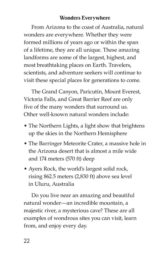 Book Preview For Natural Wonders of the World Page 22