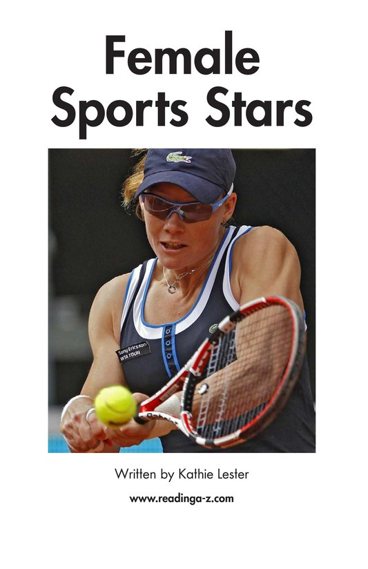 Book Preview For Female Sports Stars Page 2