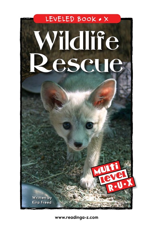 Book Preview For Wildlife Rescue Page 1