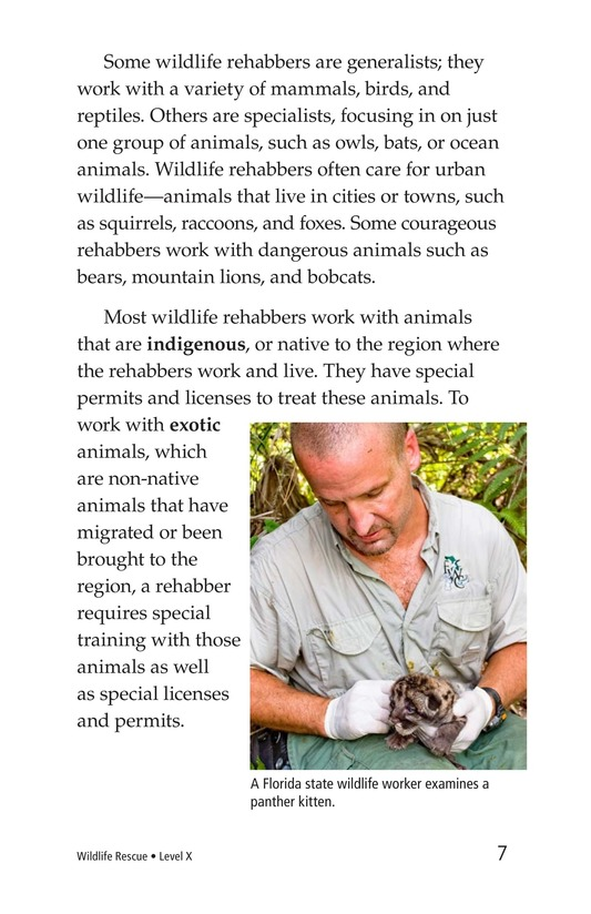 Book Preview For Wildlife Rescue Page 7