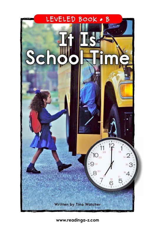 Book Preview For It Is School Time Page 1