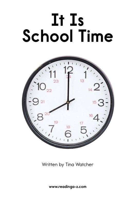 Book Preview For It Is School Time Page 2