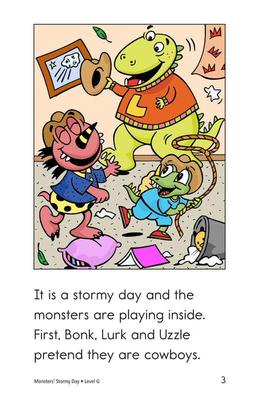 Book Preview For Monsters' Stormy Day Page 3