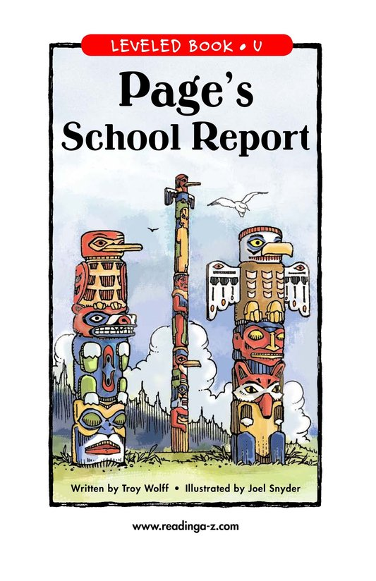 Book Preview For Page's School Report Page 1