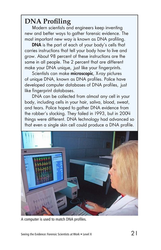 Book Preview For Seeing the Evidence: Forensic Scientists at Work Page 21