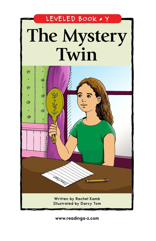 Book Preview For The Mystery Twin Page 1