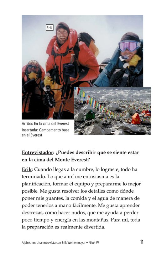 Book Preview For Climbing Mountains: An Interview with Erik Weihenmayer Page 11