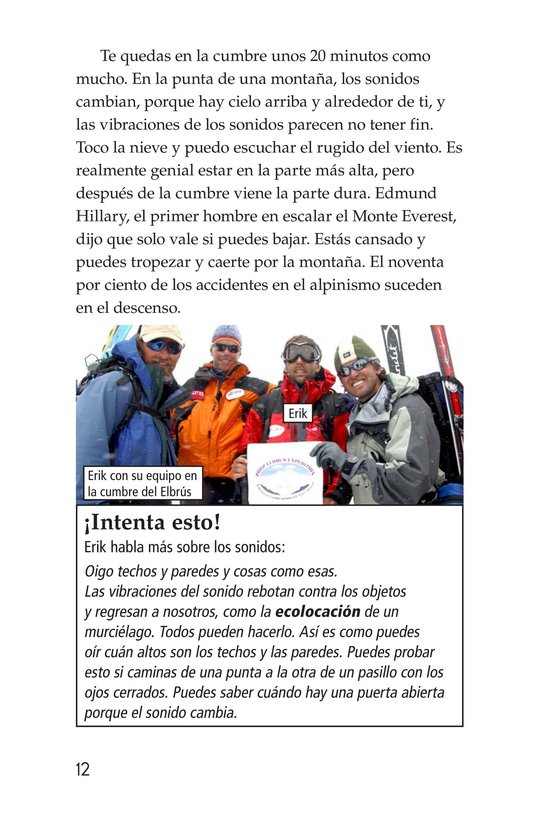 Book Preview For Climbing Mountains: An Interview with Erik Weihenmayer Page 12
