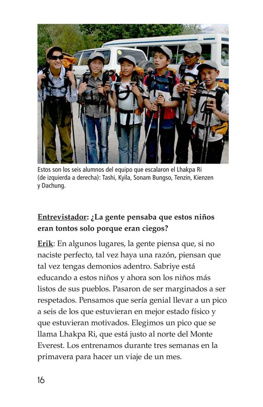Book Preview For Climbing Mountains: An Interview with Erik Weihenmayer Page 16