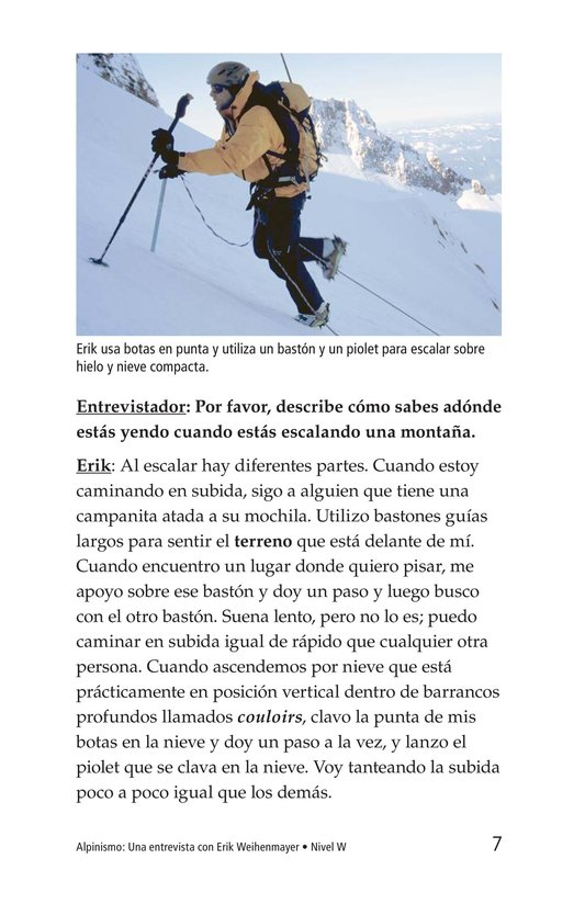 Book Preview For Climbing Mountains: An Interview with Erik Weihenmayer Page 7
