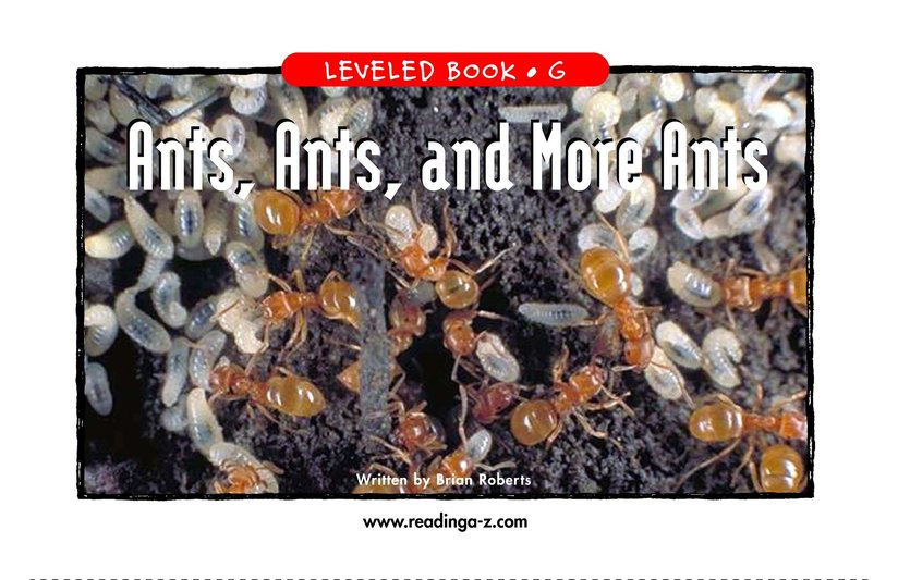 Book Preview For Ants, Ants, and More Ants Page 1