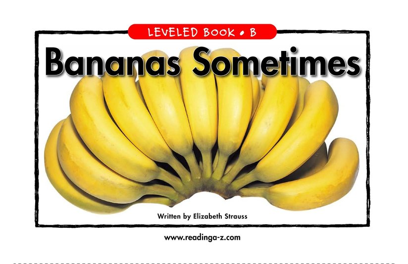 Book Preview For Bananas Sometimes Page 1