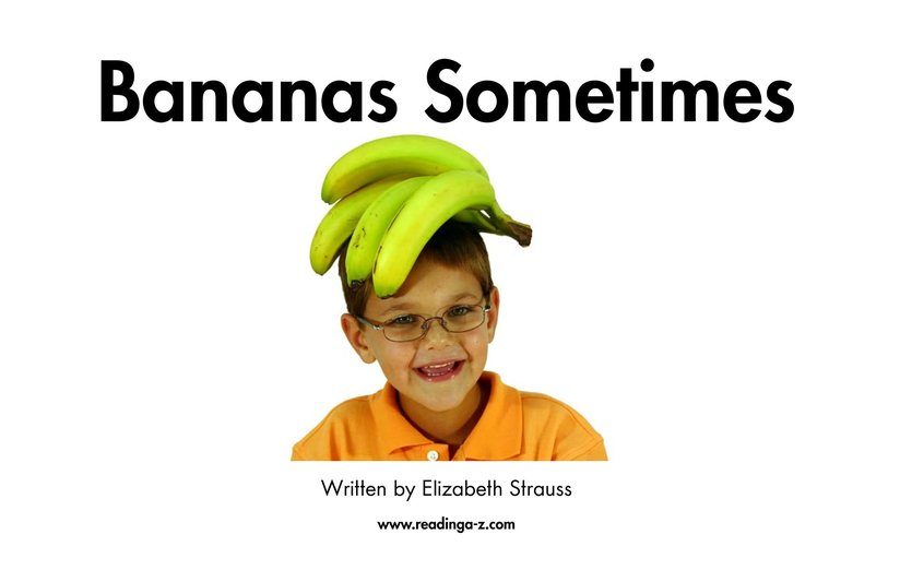Book Preview For Bananas Sometimes Page 2