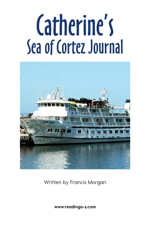 Book Preview For Charlene's Sea of Cortez Journal Page 2