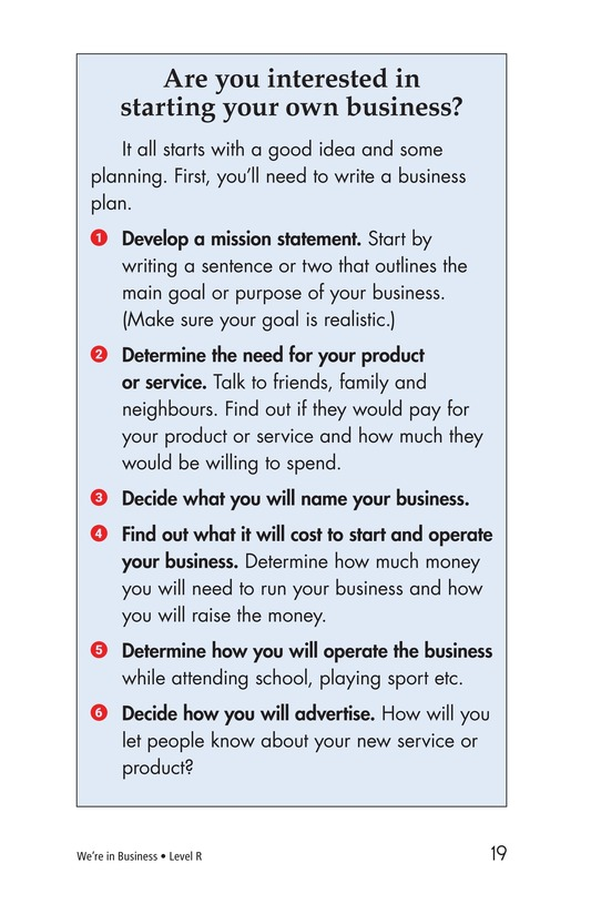 Book Preview For We're in Business Page 19