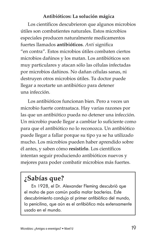 Book Preview For Microbes: Friend or Foe? Page 19