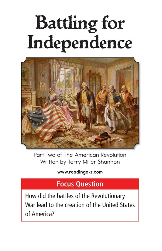 Book Preview For Battling for Independence Page 1